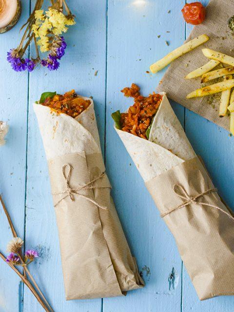 wraps veganos sin carne